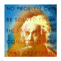 Einstein – No Problem Quote Fine Art Print