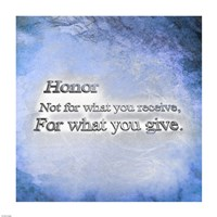 Honor Quote II by Cheryl Valentino - various sizes