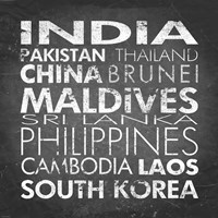 Asia Countries by Veruca Salt - various sizes