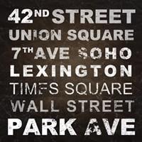 New York Places I Fine Art Print