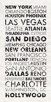 USA Cities White by Veruca Salt - various sizes