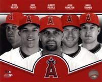 "Los Angeles Angels 2013 Team Composite - 10"" x 8"", FulcrumGallery.com brand"