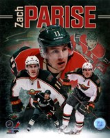 Zach Parise 2013 Portrait Plus Framed Print