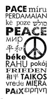 Peace in Different Languages Framed Print