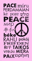 Pink Peace Languages Fine Art Print
