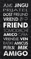 Friend in Different Languages Fine Art Print