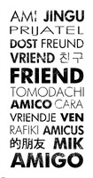 Friend Languages Fine Art Print