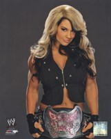 Kaitlyn with the Divas Championship Belt 2013 Posed Fine Art Print