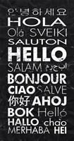 Hello in Different Languages Fine Art Print