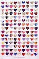 "Howard Shooter - Paper Hearts - 24"" x 36"""