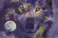 """Wolf - Eyes - 34"""" x 22"""""""