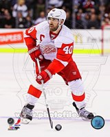 Henrik Zetterberg on Ice 2012-13 Fine Art Print