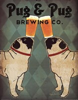 Pug and Pug Brewing Fine Art Print