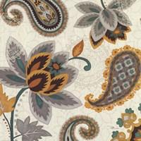 "Decorative Nature II Turquoise Cream by Pela Studio - 18"" x 18"""