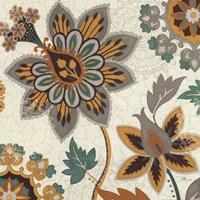 "Decorative Nature III Turquoise Cream by Pela Studio - 18"" x 18"""
