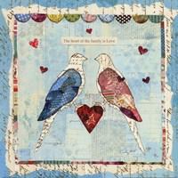 Love Birds Square Fine Art Print