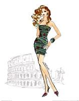 "Colorful Fashion IV - Rome by Anne Tavoletti - 11"" x 14"""