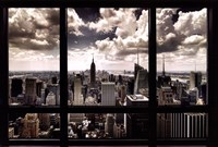 New York Window Framed Print