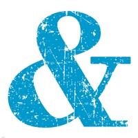 Blue Ampersand Fine Art Print