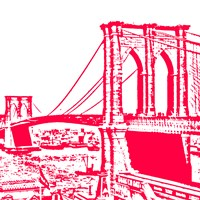 Red Brooklyn Bridge Fine Art Print