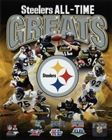 Pittsburgh Steelers All Time Greats Composite Framed Print