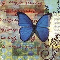 Homespun Butterfly II Fine Art Print