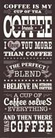 "Coffee Lovers I by Pela Studio - 8"" x 20"""