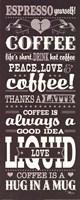 """Coffee Lovers II by Pela Studio - 8"""" x 20"""""""