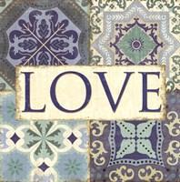 "Santorini I- Love by Pela Studio - 12"" x 12"""