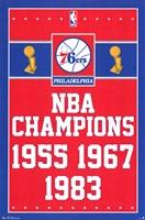 """Philadelphia 76ers - Champions 13 - 22"""" x 34"""""""