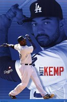 "Los Angeles Dodgers - M Kemp 13 - 22"" x 34"""