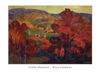 "Wild Cherries by Massana Carme - 36"" x 26"""