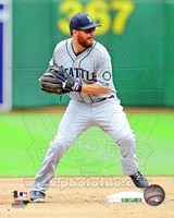 Dustin Ackley Baseball Pitching Action Fine Art Print