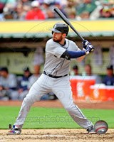 Dustin Ackley Baseball Hitting Action Fine Art Print