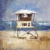 Lifeguard Tower Framed Print
