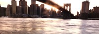 Manhattan and the Brooklyn Bridge Fine Art Print