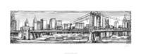 Pen & Ink Cityscape I Fine Art Print