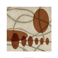"Earthen Ovals II by Jennifer Goldberger - 26"" x 26"""