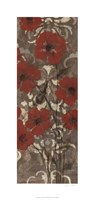 """Poppies on Damask II by Jennifer Goldberger - 17"""" x 36"""" - $40.49"""