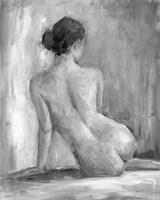Figure in Black & White I Framed Print