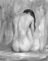 Figure in Black & White II Framed Print