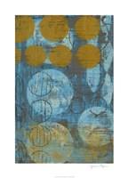 "Textured Circles I by Jennifer Goldberger - 26"" x 36"""