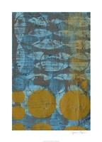 "Textured Circles II by Jennifer Goldberger - 26"" x 36"""
