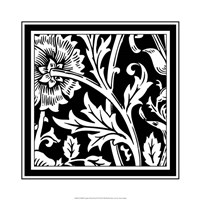 "B&W Graphic Floral Motif IV by Vision Studio - 19"" x 19"""