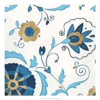 "Non-Embellished Gilded Indigo I by June Erica Vess - 22"" x 22"""