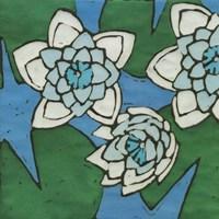 Turquoise Batik Botanical II Fine Art Print