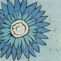 Turquoise Batik Botanical III Fine Art Print