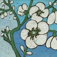 Turquoise Batik Botanical V Fine Art Print