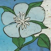 Turquoise Batik Botanical VI Fine Art Print