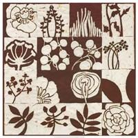 Brown Botanical 16-Patch Fine Art Print